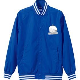 ちりねこ ナイロンスタジアムジャケット(カラー : ブルー/ホワイト, サイズ : XL)