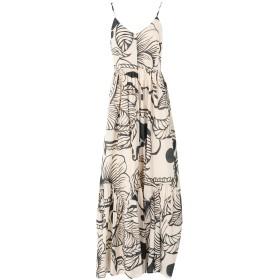 《セール開催中》SUOLI レディース ロングワンピース&ドレス ベージュ 44 コットン 100%