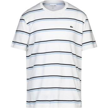 《セール開催中》LACOSTE メンズ T シャツ ホワイト 6 コットン 97% / リネン 3%