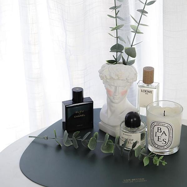 北歐ins復古腮紅大衛化妝筒花瓶擺件化妝台化妝刷收納桶韓國網紅