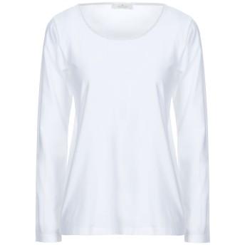 《セール開催中》PANICALE レディース T シャツ ホワイト 46 コットン 93% / ポリウレタン 7% / レーヨン / ナイロン / 金属繊維