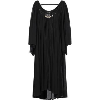 《セール開催中》GIACOBINO レディース 7分丈ワンピース・ドレス ブラック 40 コットン 100%