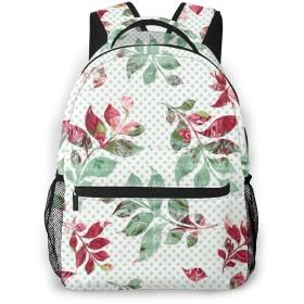 花柄 バックパック リュック 通学 遠足 旅行 多機能 大容量 収納 男女通用