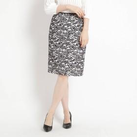 クードシャンス COUP DE CHANCE 【洗える】フラワーレーススカート (ホワイト)