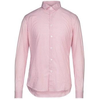 《セール開催中》GREY DANIELE ALESSANDRINI メンズ シャツ レッド 42 コットン 97% / ポリウレタン 3%