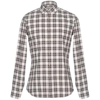 《セール開催中》HARRY BROOK メンズ シャツ アイボリー L コットン 100%