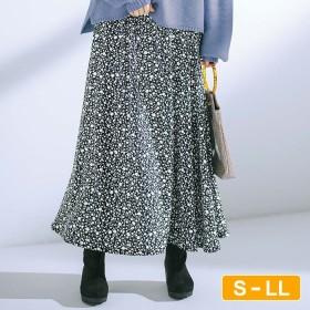 GeeRA 【S~LL】上品プリントロングスカート LL レディース 5,000円(税抜)以上購入で送料無料 フレアスカート 夏 レディースファッション アパレル 通販 大きいサイズ コーデ 安い おしゃれ お洒落 20代 30代 40代 50代 女性 スカート