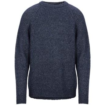 《セール開催中》LIU JO MAN メンズ プルオーバー ダークブルー XL コットン 44% / アクリル 22% / ウール 17% / 毛(アルパカ) 17%