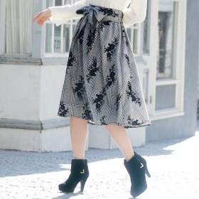 GeeRA 贅沢フロッキー素材フレアースカート M レディース 5,000円(税抜)以上購入で送料無料 フレアスカート 夏 レディースファッション アパレル 通販 大きいサイズ コーデ 安い おしゃれ お洒落 20代 30代 40代 50代 女性 スカート