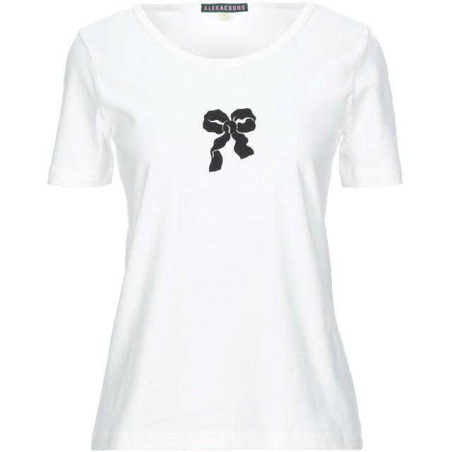 《セール開催中》ALEXACHUNG レディース T シャツ ホワイト 6 コットン 100%