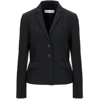 《セール開催中》I BLUES レディース テーラードジャケット ブラック 46 ポリエステル 92% / ポリウレタン 8% / レーヨン / ナイロン