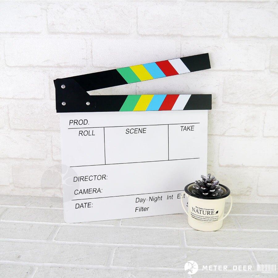 雙面 黑板 大款 彩色款場記板 導演板 電影拍板 留言板 婚紗 外拍 網紅 直播 攝影 拍攝 道具 裝飾 黑板