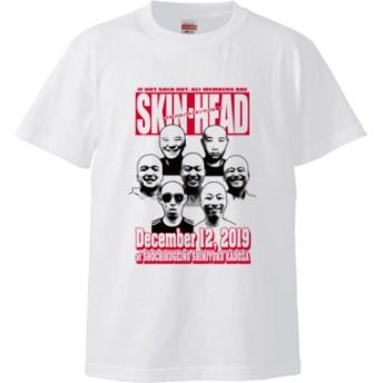 【松竹芸能】SKIN-HEAD Tシャツ(ホワイト)(カラー : ホワイト, サイズ : S)