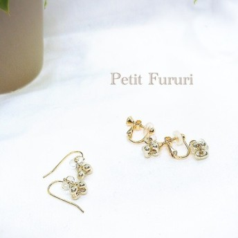 16kgf Czech crystal bubble pierce/earring ノンホール