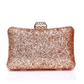 ヨーロッパとアメリカではイブニングバッグの女性のスパンコールのつい宴会バッグクラッチイブニングバッグドレスシャンパン20  6  12CM 美しい