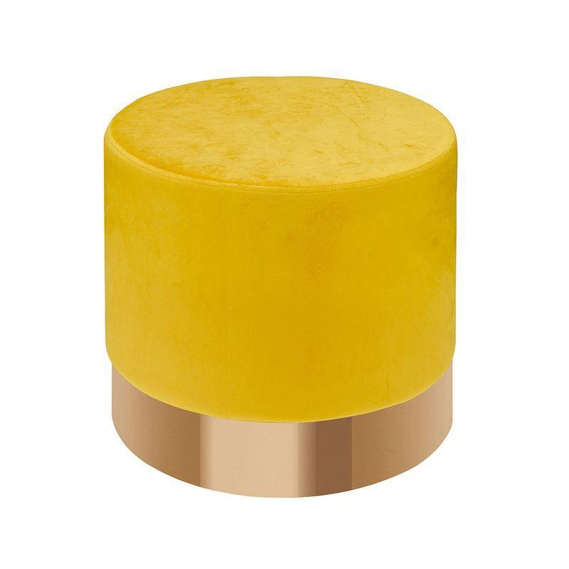 【GA348-8】瓦爾加黃色圓凳