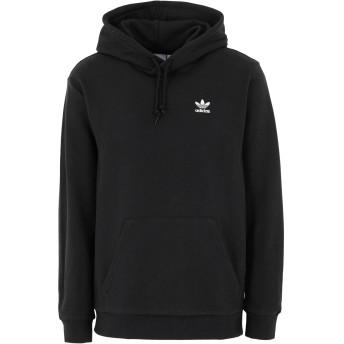 《セール開催中》ADIDAS ORIGINALS メンズ スウェットシャツ ブラック S コットン 100% ESSENTIAL HOODY