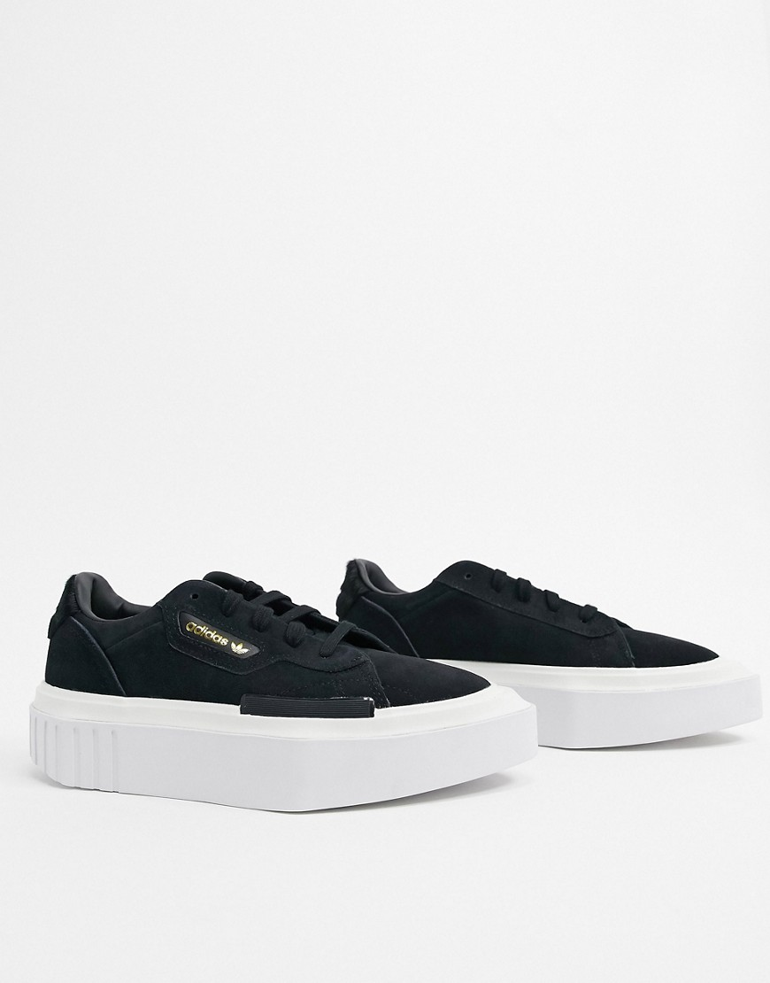 adidas Originals Hyper Sleek trainers in black and white