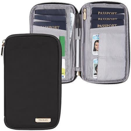 《TRAVELON》多功能旅遊護照包(黑)