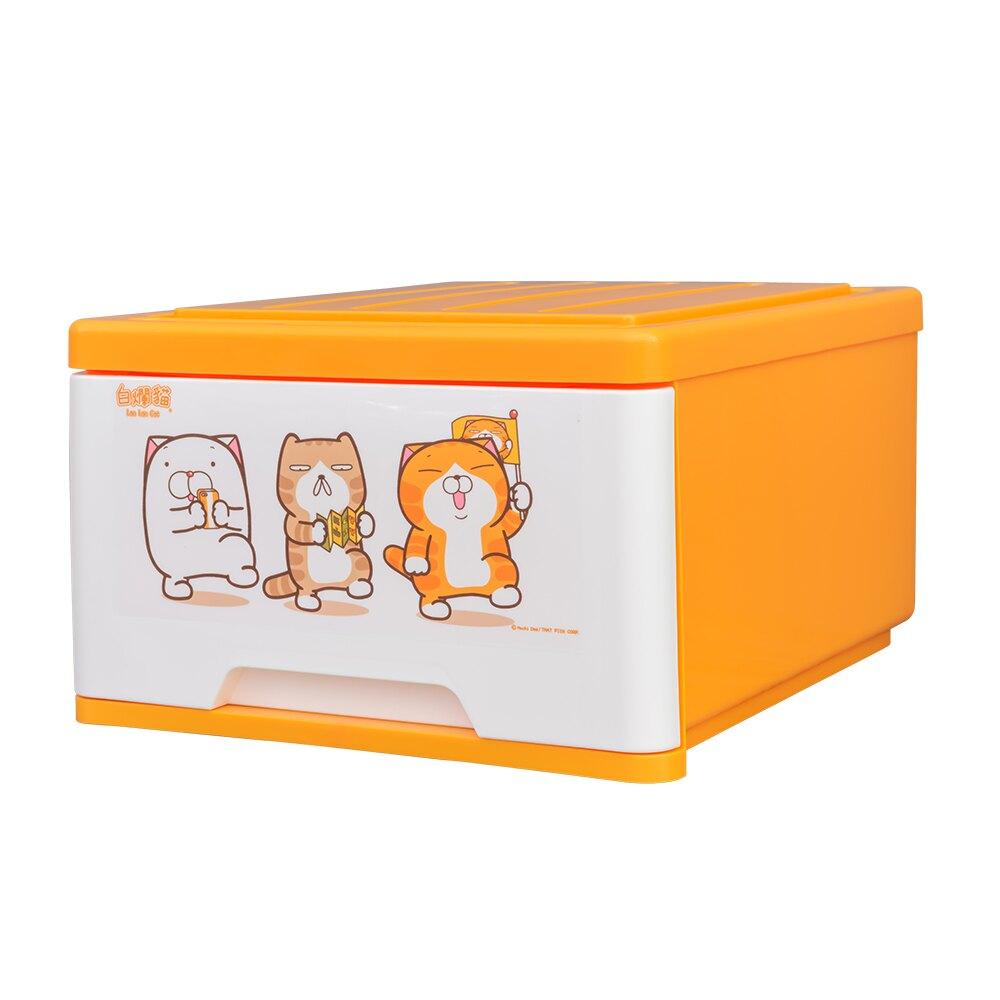 聯府/塑膠箱/收納箱/置物箱【27L/2入】白爛貓抽屜式整理箱 正版授權 dayneeds
