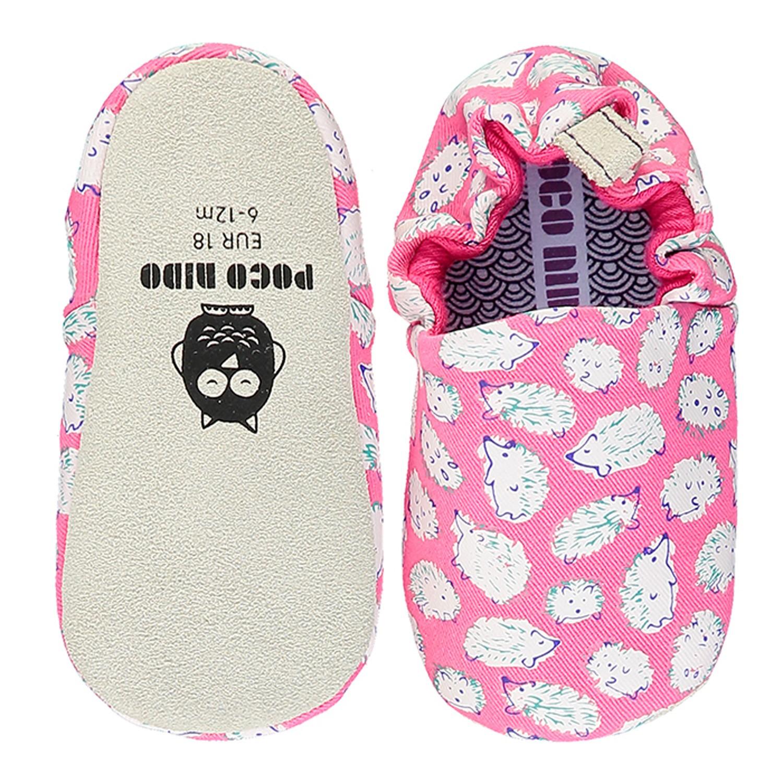 英國 Poconido - 寶寶手工鞋/學步鞋-粉紅小刺蝟