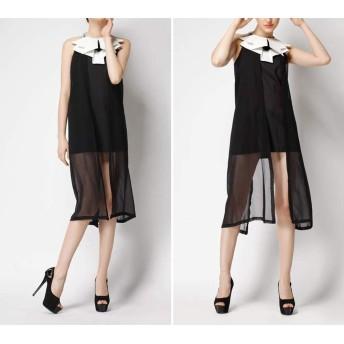 夏のノースリーブホルタードレススリムバッグヒップスカートレディース (Color : Black, Size : M)