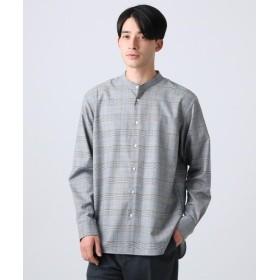 ティーケー タケオキクチ TRストレッチチェックバンドカラーシャツ メンズ ブラック(219) 04(LL) 【tk. TAKEO KIKUCHI】