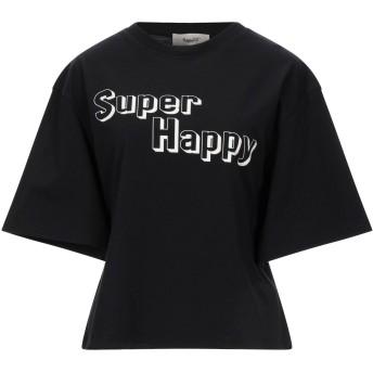 《セール開催中》HAPPY25 レディース T シャツ ブラック S コットン 100%