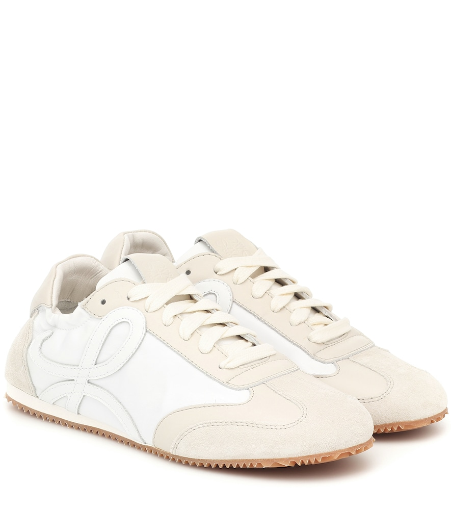 Ballet Runner leather and suede sneakers