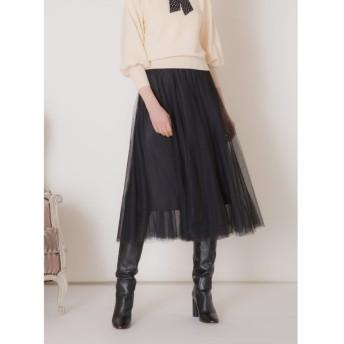 【10%OFF】 ミエリインヴァリアント Double Tulle Panel Skirt レディース ブラック F(フリーサイズ) 【MIELIINVARIANT】 【タイムセール開催中】