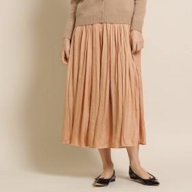 anatelier(アナトリエ)/割繊デシンランダムプリーツスカート