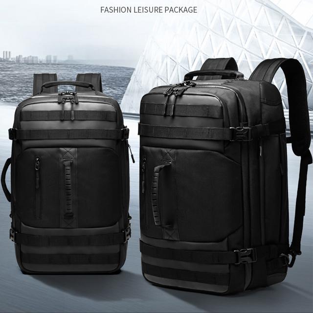 【leaper】大小款多功能大容量商務休閒旅行電腦後背包 共3色