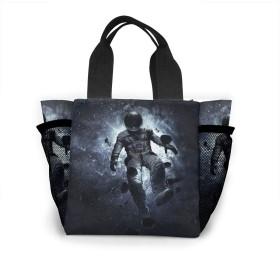 宇宙飛行士と爆発した惑星 トートバッグ おしゃれ レディース バッグ 買い物バッグ ランチバッグ エコバッグ ハンドバッグ