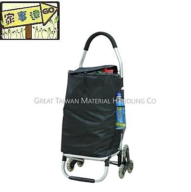 [ 家事達 ]台灣 GTMH- AB-013 鋁合金輕便購物車 (鐵殼輪輻爬階輪型、車架可折疊)
