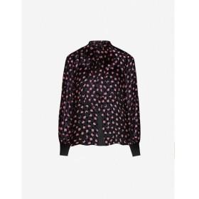 ダイアン フォン ファステンバーグ DIANE VON FURSTENBERG レディース ブラウス・シャツ Minnie printed devore silk-blend chiffon blouse Black Pink Blapn
