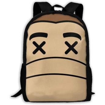 Monkey Head リュックバック リュックナップザック バッグ ノートパソコン用のバッグ 大容量 バックパックチ キャンパス バックパック 大人のバックパック 旅行 ハイキングナップザック