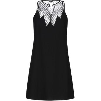 《セール開催中》SAINT LAURENT レディース ミニワンピース&ドレス ブラック 34 ウール 100% / ナイロン / シルク