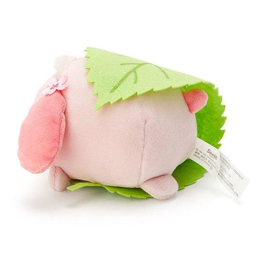 小禮堂 帕恰狗 迷你和菓子絨毛玩偶娃娃《粉綠.櫻花》擺飾.玩具