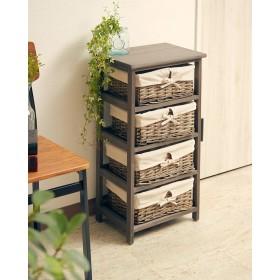 EN FANCE 木製4段チェスト 「coffre(コフレ)」○EFSR22 アンティークグレー 収納家具