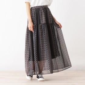 HusHusH(Ladies)(ハッシュアッシュ)/ヴィンテージプリントスカート