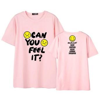 taofang 女性のためのファッションCAN YOU FEEL IT書簡プリントユニセックスTシャツファンTシャツ ファッション衣装