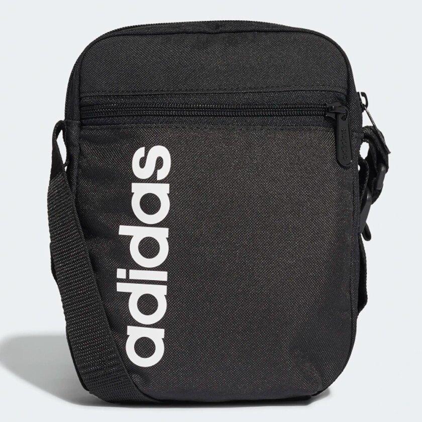 【現貨】ADIDAS LINEAR CORE ORGANIZER BAG 側背包 休閒 潮流 黑【運動世界】DT4822