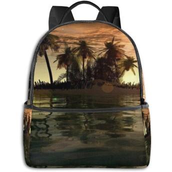ココナッツの木 コンピュータバックパック大容量 リュック メンズ レディース 通学 通勤 おしゃれ 可愛い カジュアル 旅行 バックパック