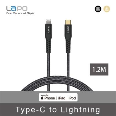 LAPO 極限系列 USB-C to Lightning 防彈纖維傳輸線 1.2M