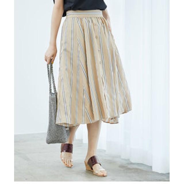 【ROPE' PICNIC:スカート】先染めストライプスカート