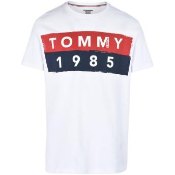 《セール開催中》TOMMY JEANS メンズ T シャツ ホワイト XS コットン 100% TJM BASIC CN T-SHIRT S/S 12
