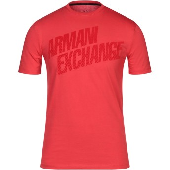 《セール開催中》ARMANI EXCHANGE メンズ T シャツ レッド XS コットン 100%