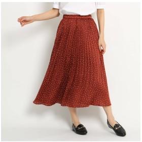 【AG バイアクアガール/AG by aquagirl】 サテンドットプリーツスカート