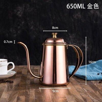 咖啡壺 手沖咖啡壺家用小型迷你細口壺304不銹鋼掛耳長嘴手沖壺套裝美式『XY506』