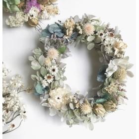 oval wreath 紫陽花 Sサイズ15cm